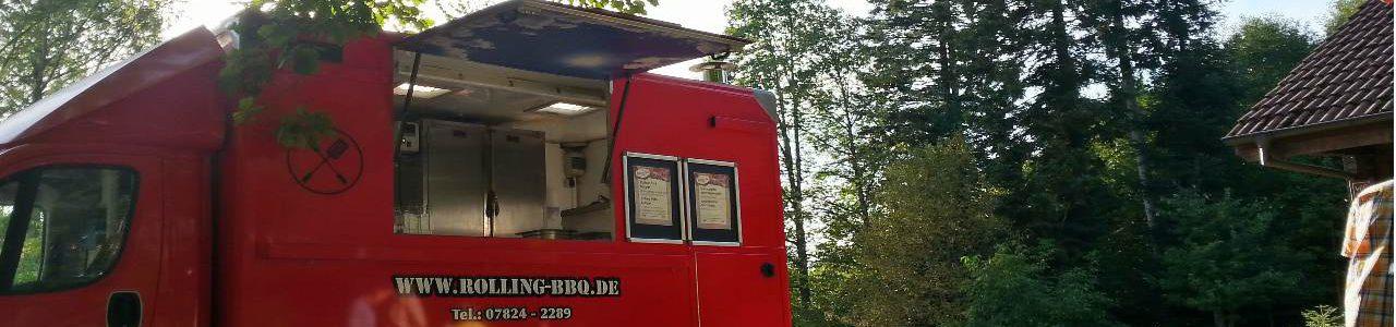 Food Truck auf einer Geburtstags Party