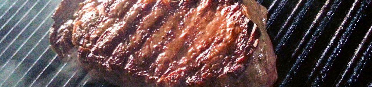 Steak auf der Plancha gegrillt